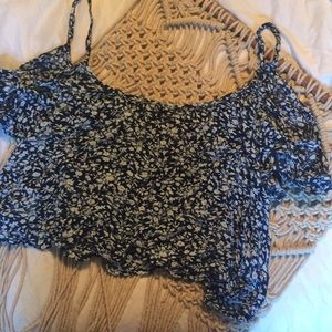 BOGO Hollister medium floral cold shoulder top